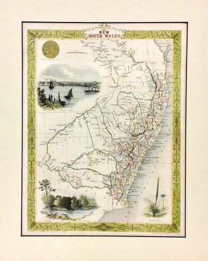 New South Wales c1851 - John Tallis